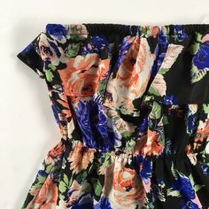 Floral Strapless Maxi Floral Strapless Maxi Dress Perfect for summer errands or even a beach party  Ruffled top and elastic waist  Size • Medium  Condition • worn twice lots of life left Dresses Maxi