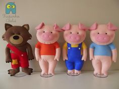 Felt Three Little Pigs
