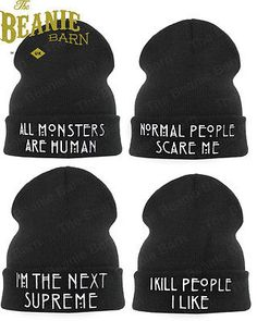 American horror story beanie hats #normal people #scare me #sweatshirt twilight , View more on the LINK: http://www.zeppy.io/product/gb/2/321665108894/