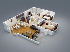 3D Floor Plans « Wazo Communications