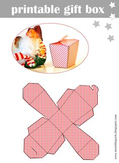 Just download, print and cut this gift box template, fold it and fill it with treats or other little presents.