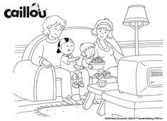Caillou's Family Fun – Coloring Sheet!