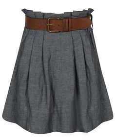 Pleated Linen Skirt