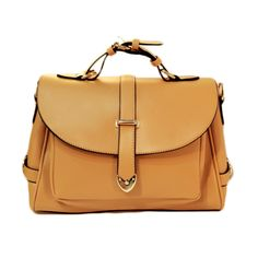 100% Polyurethane (PU) Smart across body day bag with front magnetic tag fastening, sweet vintage look.