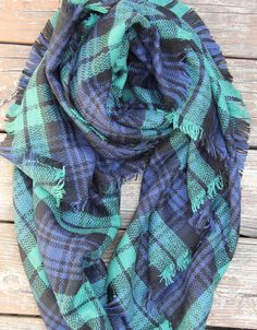 Hey we aren't mad about plaid, we LOVEE plaid!! This light weight plaid scarf has multi purposes, great for cooler dayzz or even with a tank top and pony tail in the summer time!