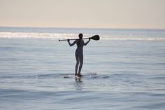 SUPing on a Longboard #siren #surfboard #standuppaddle