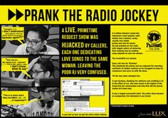 Radio Prank - case study board