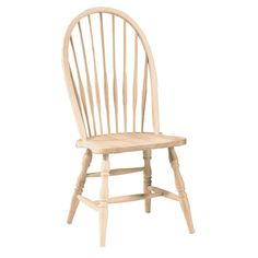 International Concepts Unfinished Westbrook Tall Windsor Side Chair