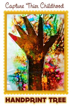 {Capture their childhood :: Hand-print Tree} Sweet way to use up old pieces of broken crayons...