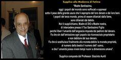 #GiacintoAuriti Supplica alla Madonna di Fatima, contro l' #USURA