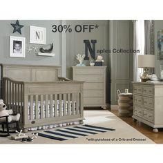 30% Off Crib/Changer Purchase through 11/30.  Naples Full Panel Convertible Crib Grey Satin