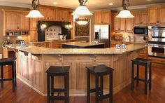 Custom Kitchen Cabinet Designs | Custom Cabinets Custom all wood cabinet design and install. Call ...