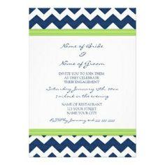 engagement party invitations | Blue Lime Chevron Engagement Party Invitations >> Wedding Invitations