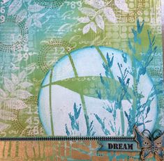 Using stencils on a canvas    Yours Artfully: Stencil Girl/and PaperArtsy Blog Hop