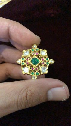 Traditional Indian Jewellery, Indian Jewelry, Enamel Jewelry, Gold Jewelry, Uncut Diamond Ring, Polki Sets, Rajputi Jewellery, Emeralds, 18k Gold