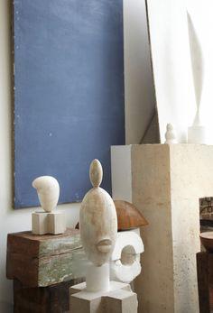Brancusi's studio shot by Leslie Williamson