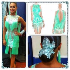 Spare mint lace and fringe dress