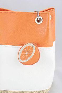 Kabelky - kabelka Pomarančová kocka -