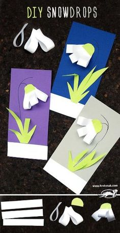 DIY snowdrops – craft SPRING Best Picture For Spring Crafts For Kids to sell For Your Taste You are looking for something,. Preschool Crafts, Easter Crafts, Kids Crafts, Spring Crafts For Kids, Diy For Kids, Tarjetas Diy, Origami Art, Mothers Day Crafts, Christmas Activities