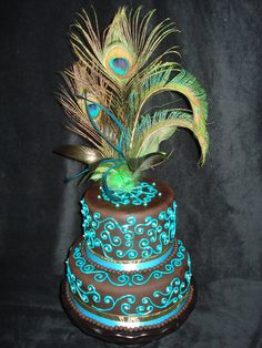 - I bought the feathers as a decoration for my home, but looking at them inspired me to create a cake :)