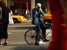 If you don't instantly recognize this spry octogenarian and his trusty blue workman's smock, then you don't know New York fashion.  You are hereby ordered to visit the New York Times Style Section to read/view/listen to his weekly column: On the Street.  You should also check out the documentary film: Bill Cunningham-New York, to meet the charming and humble man behind the lens!