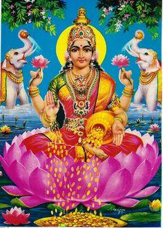 Hindu #Goddess #Laksmi ~ Goddess of Light, Beauty, Prosperity & Good fortune