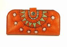 Wallet Leather - Sunny Orange