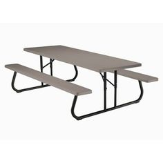 Lifetime 44 In. Round Picnic Table With 3 Swing Out Benches (Almonu2026 | 60054  Lifetime Convertible Picnic Table And Bench | Pinterest | Round Picnic Table