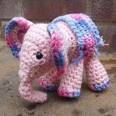 """Meimei_crochet_baby_elephant__19__small2...4.3"""" by 3.5""""... Free crochet pattern!"""