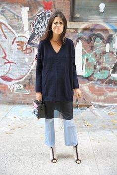 I Found the Perfect Jeans | Man Repeller boyfriend jeans, sheer tunic, sweater...