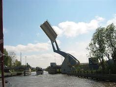 The Slauerhoffbrug ( Slauerhoff Bridge ), Leeuwarden, Netherlands