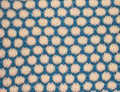 stitch pattern mosaic knitting of two colors.