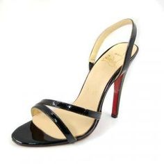 Cheap Christian Louboutin Anna Patent Leather Sandals Black Sale : Christian Louboutin$187.87