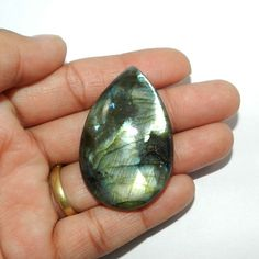 97.05CTS UNIQUE NATURAL LABRADORITE 30X47MM PEAR CAB FASHION JEWELRY GEMSTONE #SHINING_GEMS