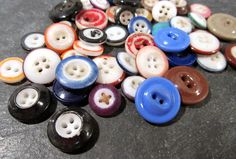 China Buttons Fifty (50) Assorted Ringers Inkwells Solid VINTAGE China Buttons Assorted Colors Vintage Jewelry Sewing Supplies (J39) by punksrus on Etsy