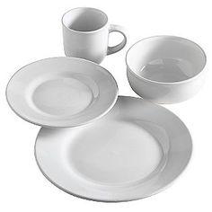 Sandra by Sandra Lee -16pc White Dinnerware Set   sand lee ...