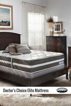 Doctor's Choice® Elite gives you a luxurious sleep experience for unbeatable value. Enhanced support from our Balanced Orthopedic Sleep System (B.O.S.S.™) surrounds you in comfort, while 2LB HD Luxury Plush and 4LB Gel layers provide a supportive, cooling surface for your best sleep.