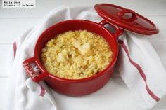 arroz con coliflor y bacalao
