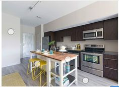 I love the cart and the island together, but I would choose the black/brown base for my kitchen. Updated Kitchen, New Kitchen, Kitchen Dining, Basement Kitchen, Kitchen Ideas, Beach House Kitchens, Home Kitchens, Remodeling Costs, Kitchen