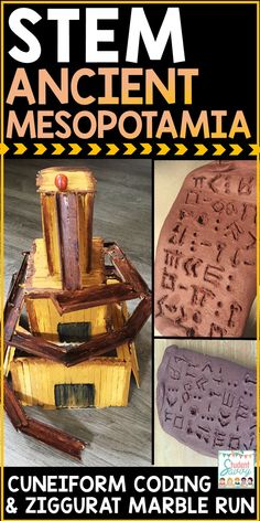 Ancient Mesopotamia STEM Challenges - Cuneiform Coding and Ziggurat Marble Run