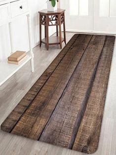 Photo Gallery - Wood Grain Printed Home Decor Floor Mat Carpet Flooring, Rugs On Carpet, Cheap Hardwood Floors, Living Room Mats, Wooden Pattern, Cheap Rugs, Brick Patterns, Cheap Carpet, Bath Rugs