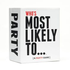 "Who's Most Likely To... [A Party Game] is the original ""Who's most likely to..."" party game where there are no winners, only losers. This game can get real! Prepare to call out your friends when you decide who in the group is most likely to... ""#1 Wake up with half a burrito in bed"", ""#27 Have 20-minute conversation with Siri"" or ""#147 Shame people for going to bed"". How To Play: One player reads a card aloud. They are now the judge. Everyone says who in the group deserves the card and why…"