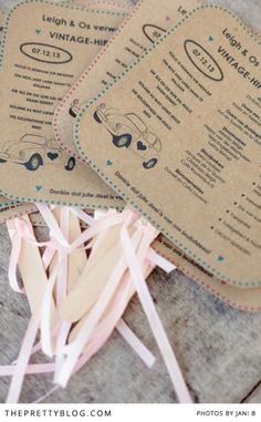 Cute idea for a summer wedding, having your pporgram on a hand fan | Photographer: Jani B | Stationery (Invitation) : Polkadot Promotions | Stationery : Abigail Faddel from Postnet, Paarl
