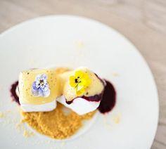 Perfect summer dessert! Yoghurt parfait with passion fruit sauce  @ Dune Restaurant Cafe Lounge in Mielno, Poland