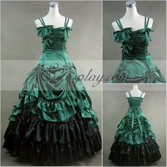 Green Sleeveless Gothic Lolita Dress-LTFS0012 #Everyone Can Cosplay! Cosplay costumes #Anime Cosplay Accessories #Cosplay Wigs #Anime Cosplay masks #Anime Cosplay makeup #Sexy costumes #Cosplay Costumes for Sale #Cosplay Costume Stores #Naruto Cosplay Costume #Final Fantasy Cosplay #buy cosplay #video game costumes #naruto costumes #halloween costumes #bleach costumes #anime