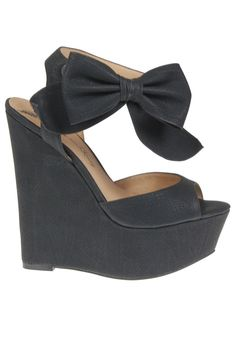 Penny loves Kenny Dwight Wedge In Black - Beyond the Rack