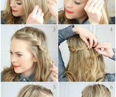 An der Bilder sehen wir eine neue Frisur und se Frisur bildet