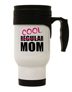 TooLoud Not A Regular Mom Design Stainless Steel Travel Mug -- Check this useful article by going to the link at the image. Coffee Drinks, Coffee Mugs, Travel Mug, Cool Designs, Stainless Steel, Mom, Link, Check, Image