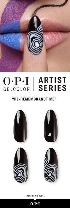 24 highly pigmented shades designed to unleash your inner artist. Try this black and white DesignScape on your next client, inspired by Rembrandt.