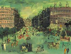 AVENUE DE L'OPERA  By Jean Dufy